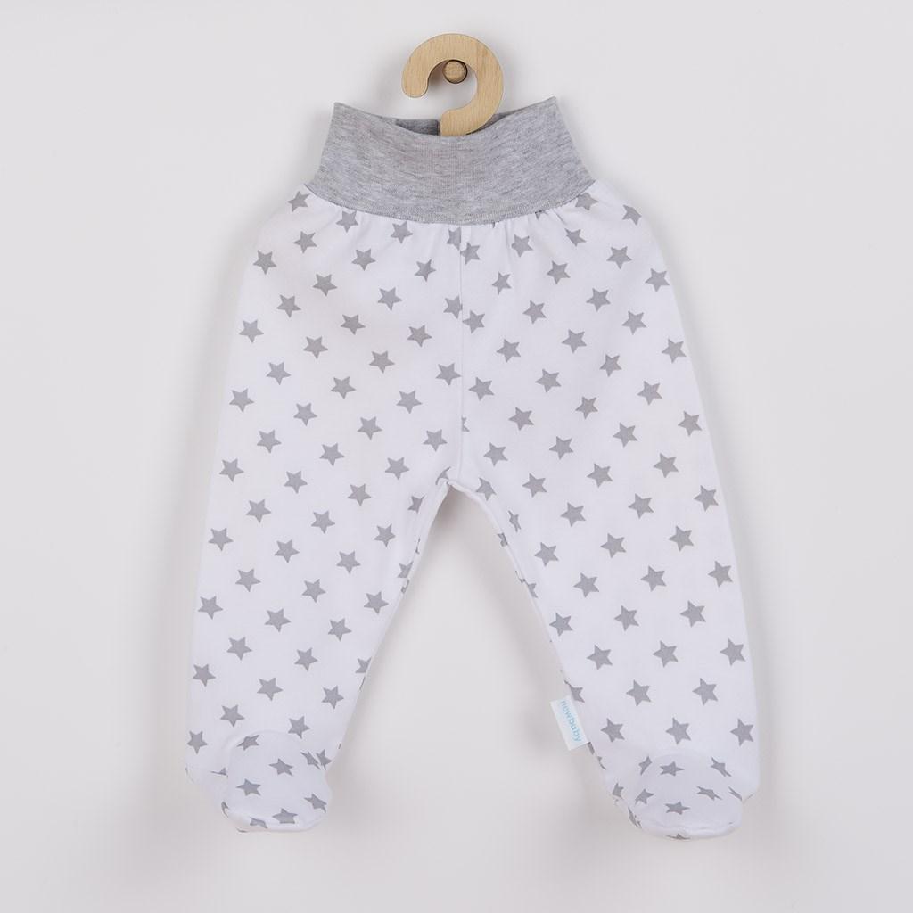 Kojenecké polodupačky New Baby Classic II šedé s hvězdičkami vel. 56 (0-3m)