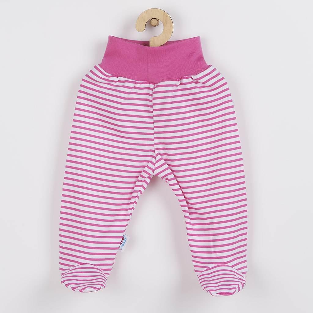 Kojenecké polodupačky New Baby Classic II s růžovými pruhy vel. 86 (12-18m)
