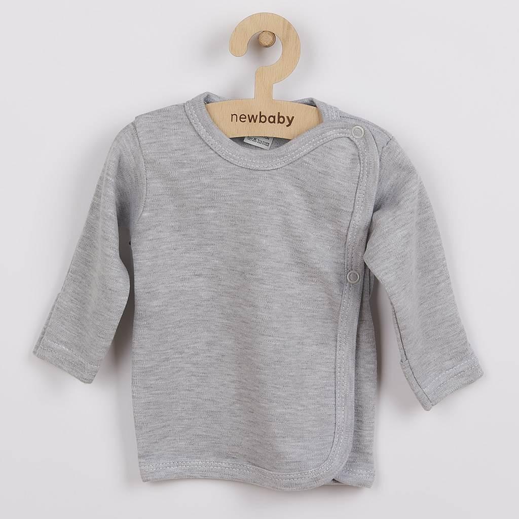 Kojenecká košilka New Baby Classic II šedá vel. 50