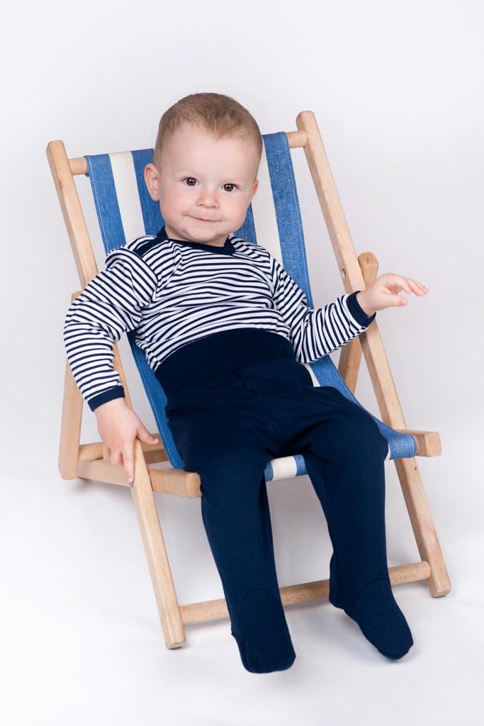 Kojenecká košilka New Baby Classic II s modrými pruhy