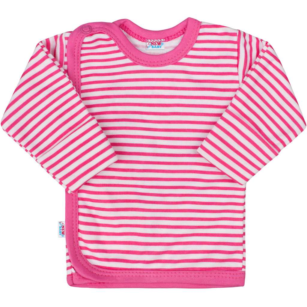 Kojenecká košilka New Baby Classic II s růžovými pruhy vel. 50