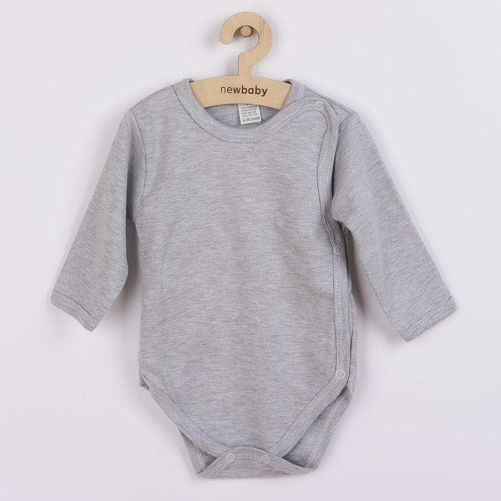 Kojenecké celorozepínací body New Baby Classic II šedé