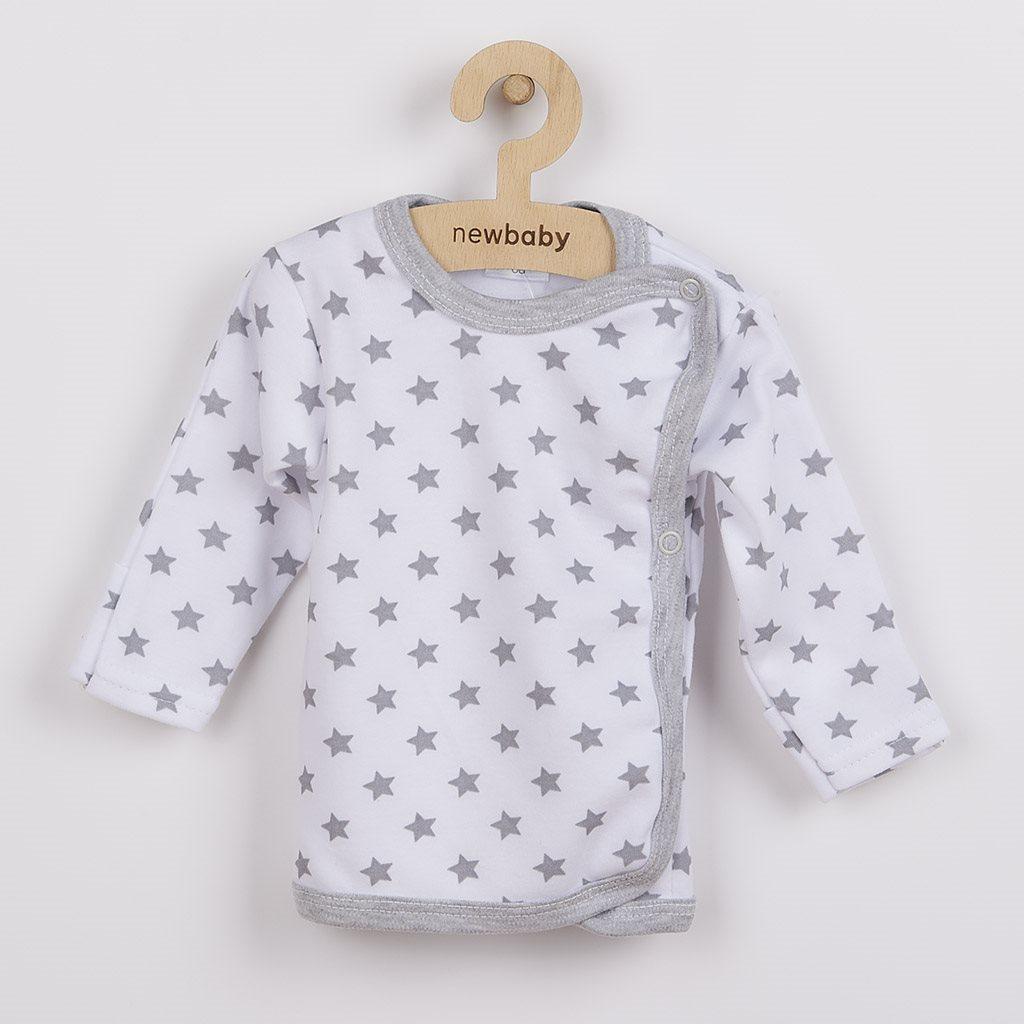 Kojenecká košilka New Baby Classic II šedá s hvězdičkami vel. 56 (0-3m)