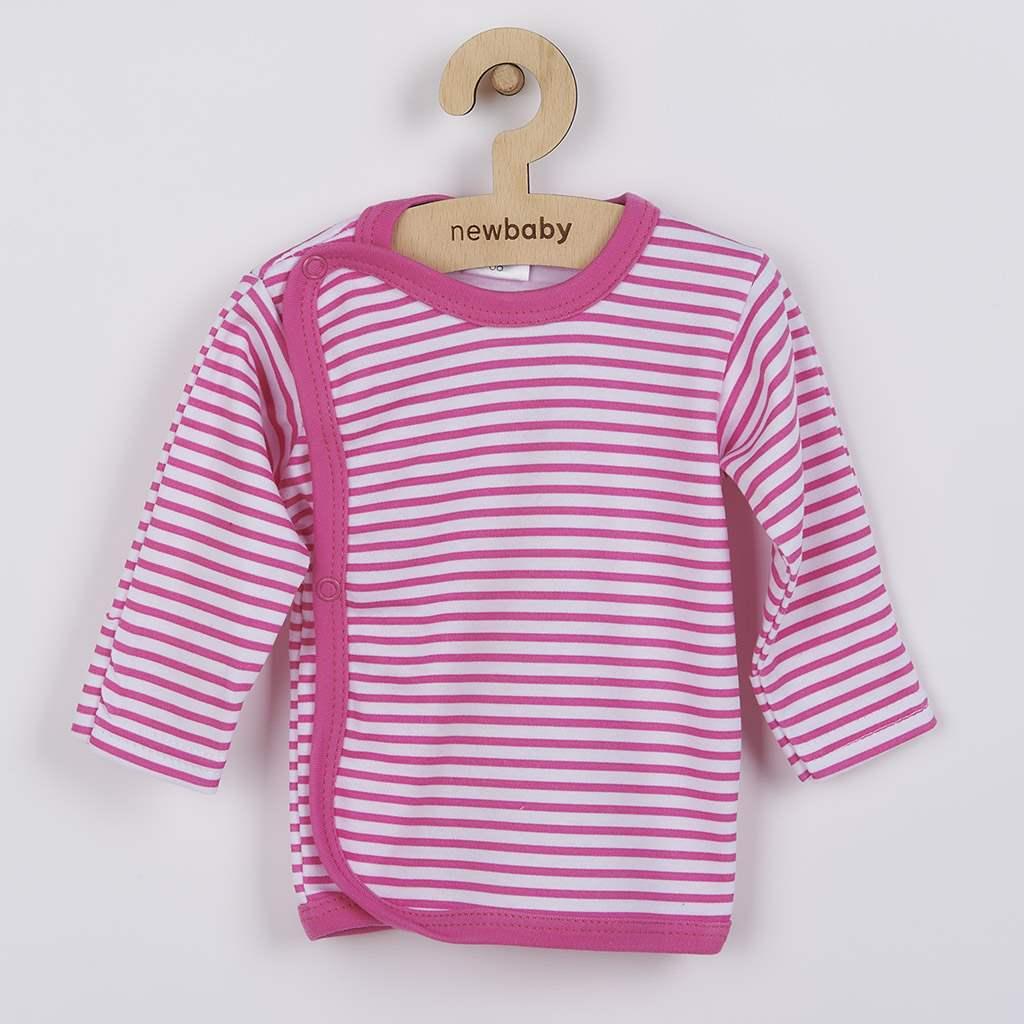 Kojenecká košilka New Baby Classic II s růžovými pruhy-56 (0-3m)
