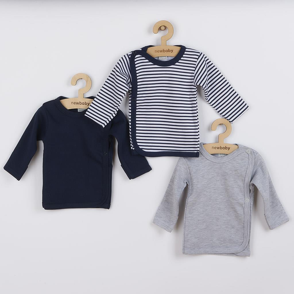 Kojenecká košilka New Baby Classic II Kluk 3ks vel. 56 (0-3m)