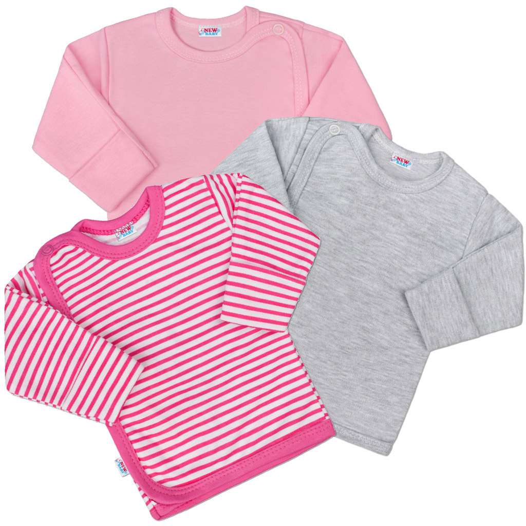 Kojenecká košilka New Baby Classic II Holka 3ks vel. 50