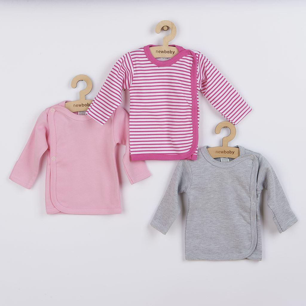 Kojenecká košilka New Baby Classic II Holka 3ks