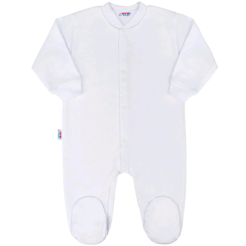 Kojenecký overal New Baby Classic bílý vel. 56 (0-3m)
