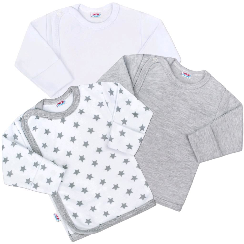 Kojenecká košilka New Baby Classic II Uni 3ks vel. 56 (0-3m)