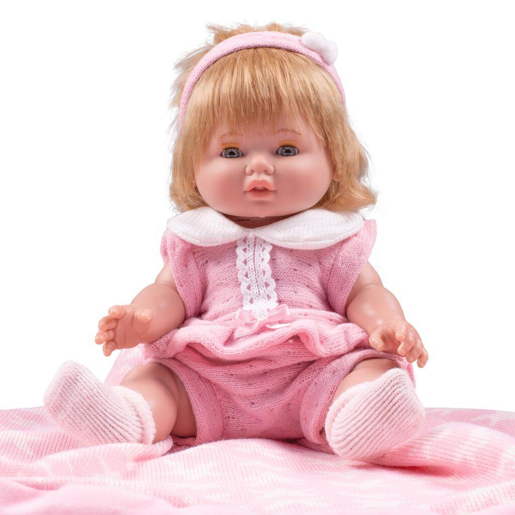 Luxusní dětská panenka-miminko Berbesa Amalia 34cm
