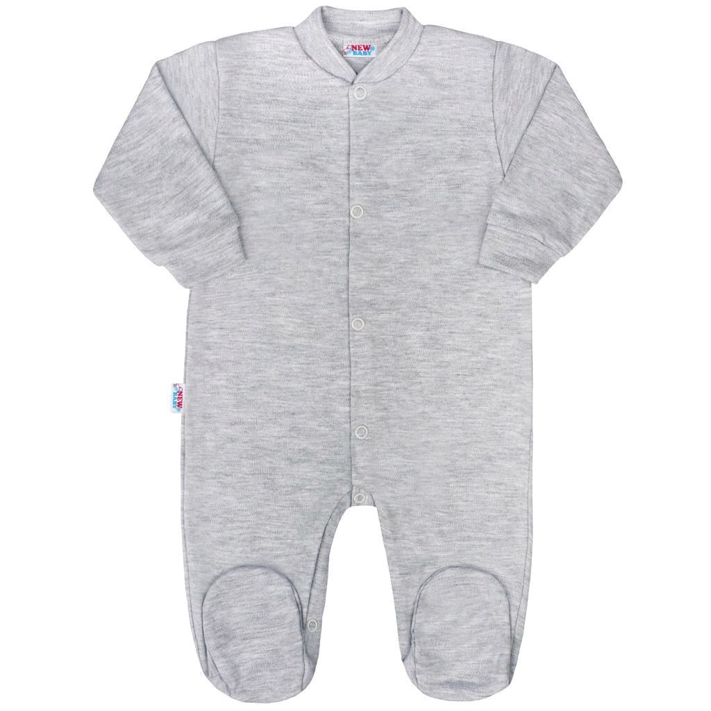 Kojenecký overal New Baby Classic II šedý, Velikost: 56 (0-3m)