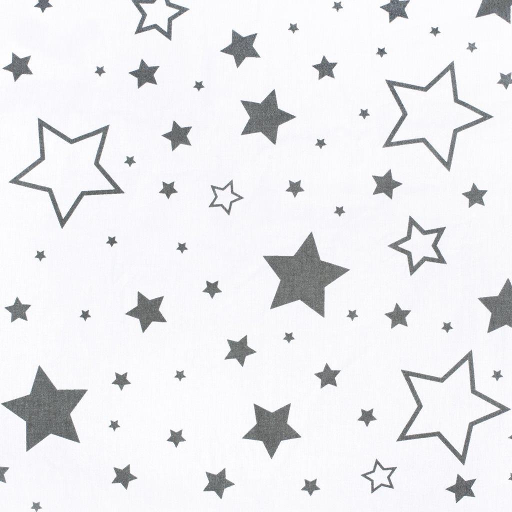 Univerzální kojící polštář ve tvaru C New Baby hvězdy šedé