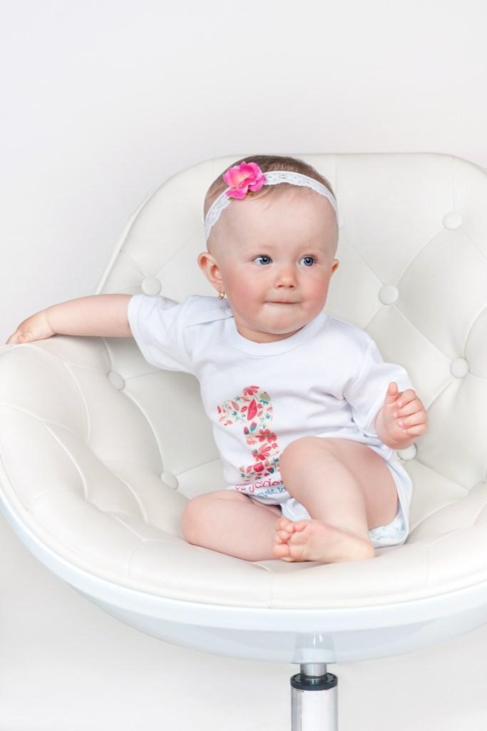 Body s potiskem New Baby Už jeden rok dělám svět krásnější vel. 86
