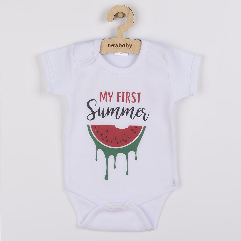 Body s potiskem New Baby My first Summer