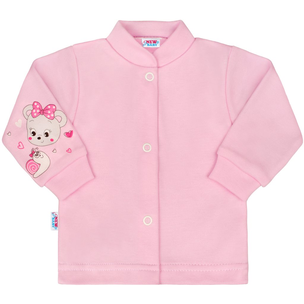 Kojenecký kabátek New Baby medvídek růžový-50