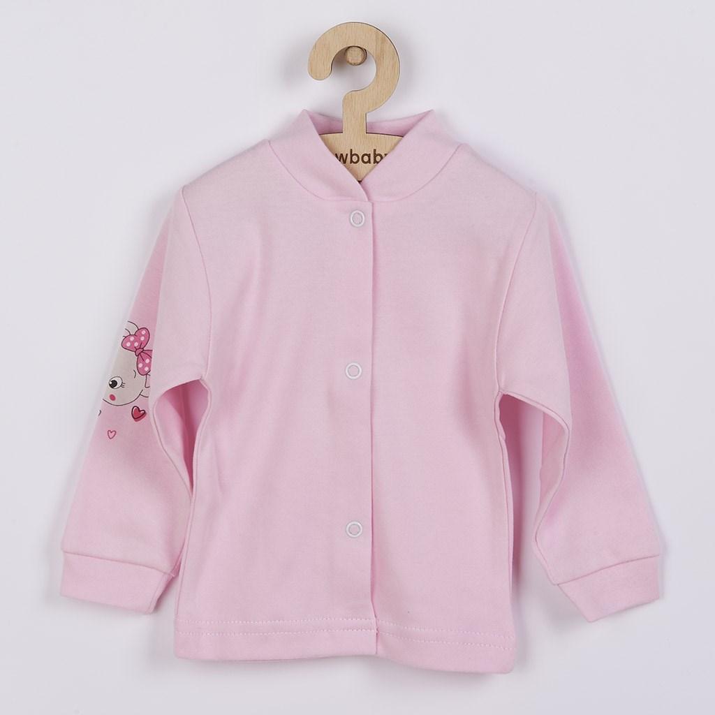 Kojenecký kabátek New Baby medvídek růžový, Velikost: 56 (0-3m)