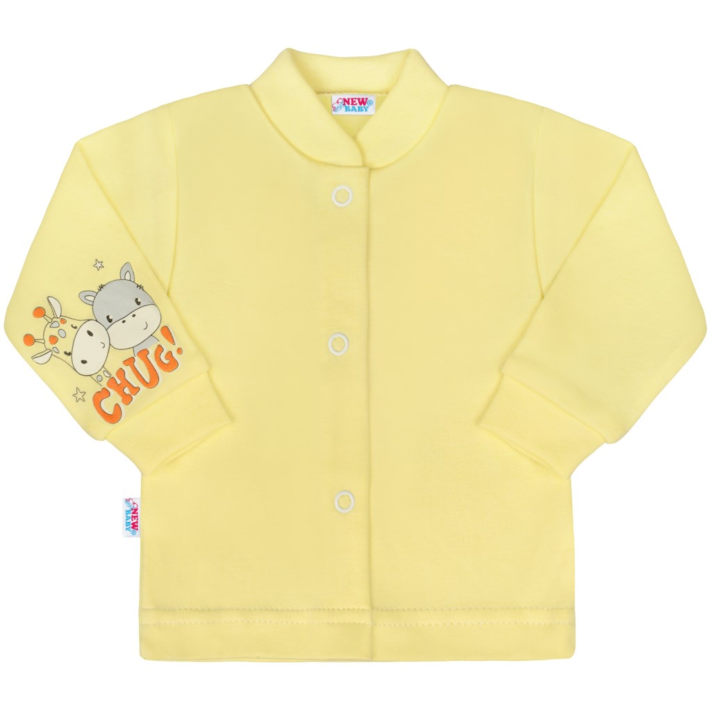 Kojenecký kabátek New Baby chug žlutý vel. 50