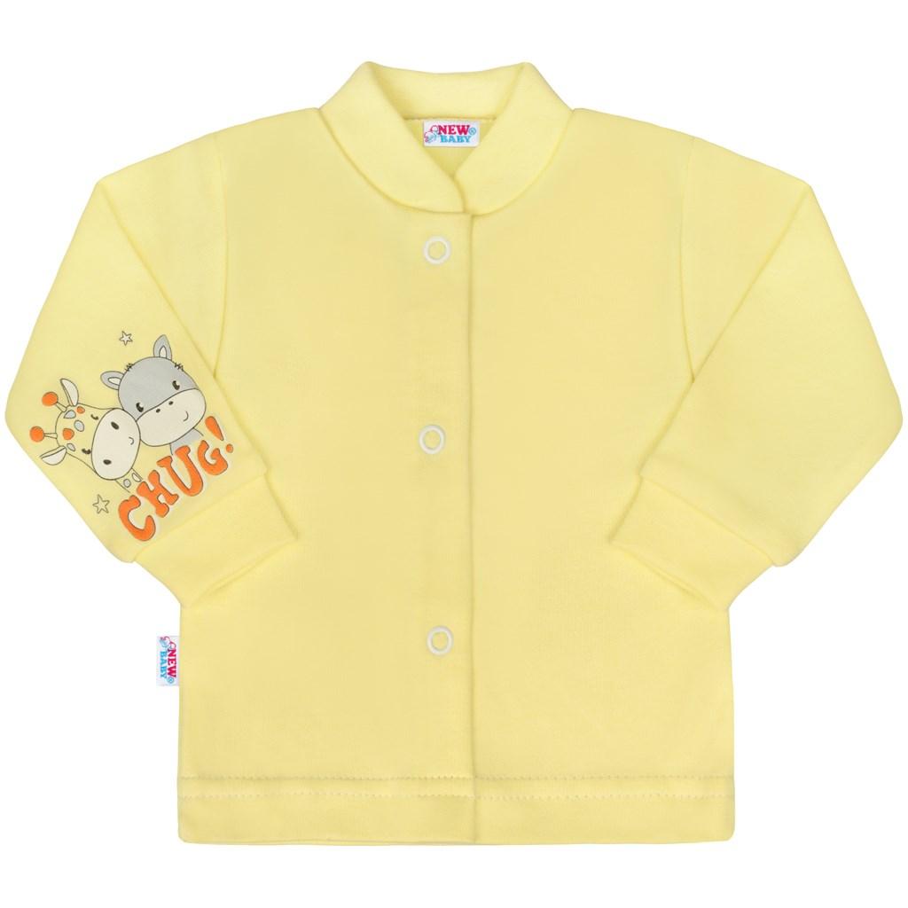 Kojenecký kabátek New Baby chug žlutý