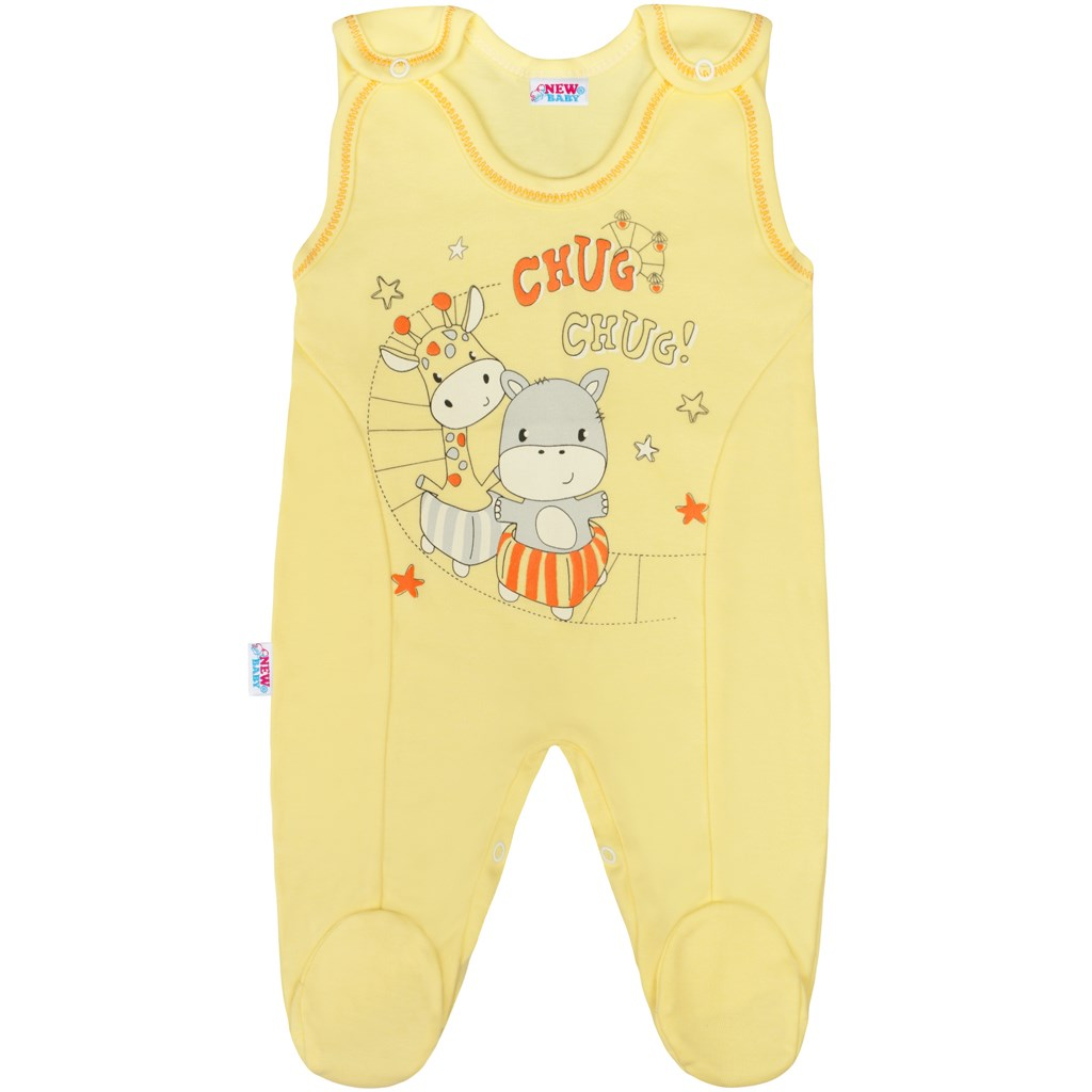 Kojenecké dupačky New Baby chug žluté