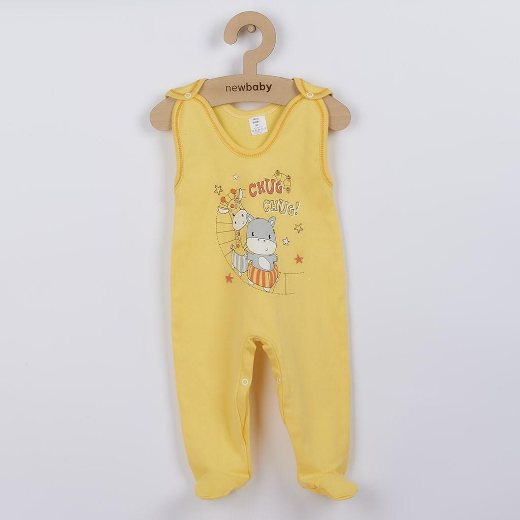 Kojenecké dupačky New Baby chug žluté vel. 86 (12-18m)