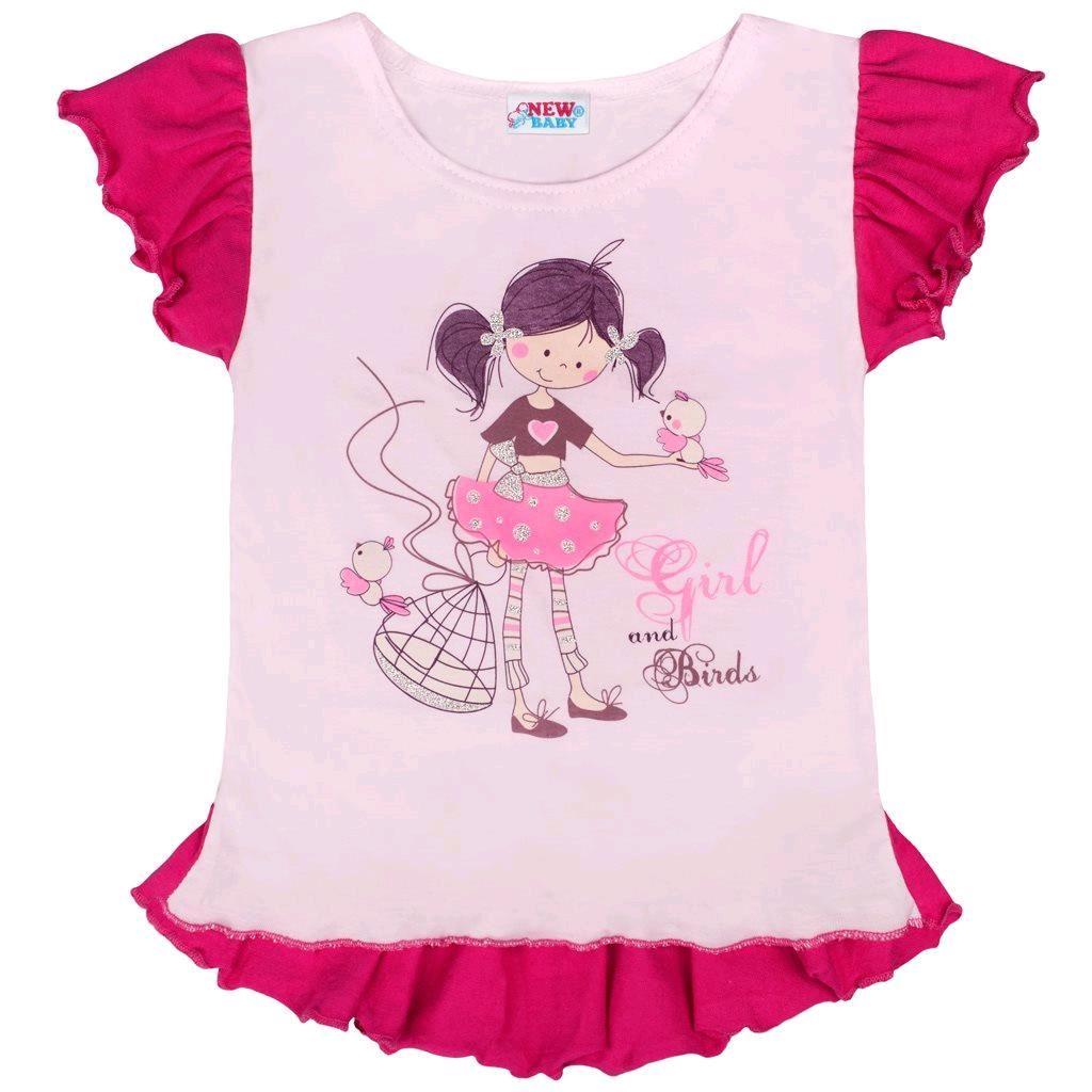 Dětská letní tunika New Baby Girl růžová