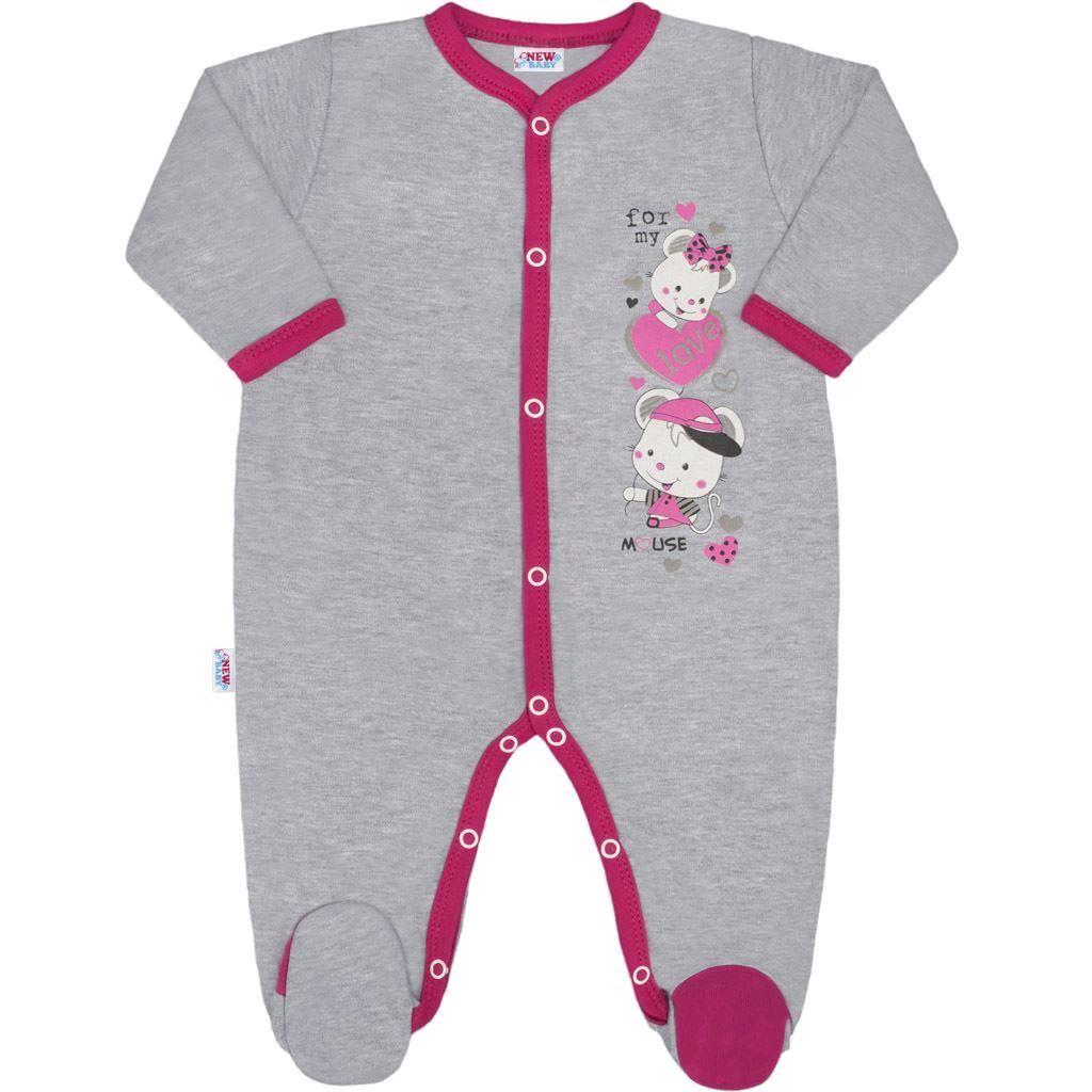 Dětský overal New Baby Love Mouse, Velikost: 80 (9-12m)