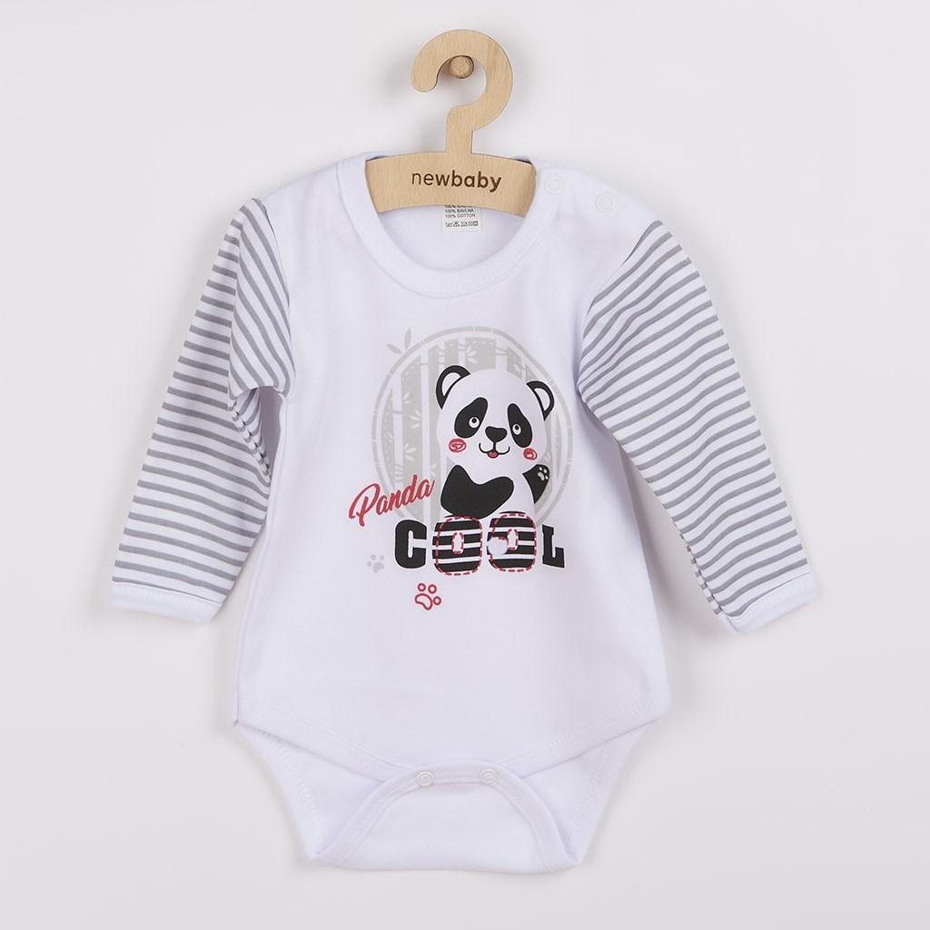 Kojenecké body s dlouhým rukávem New Baby Panda