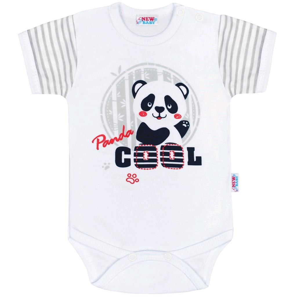 Kojenecké body s krátkým rukávem New Baby Panda, Velikost: 80 (9-12m)