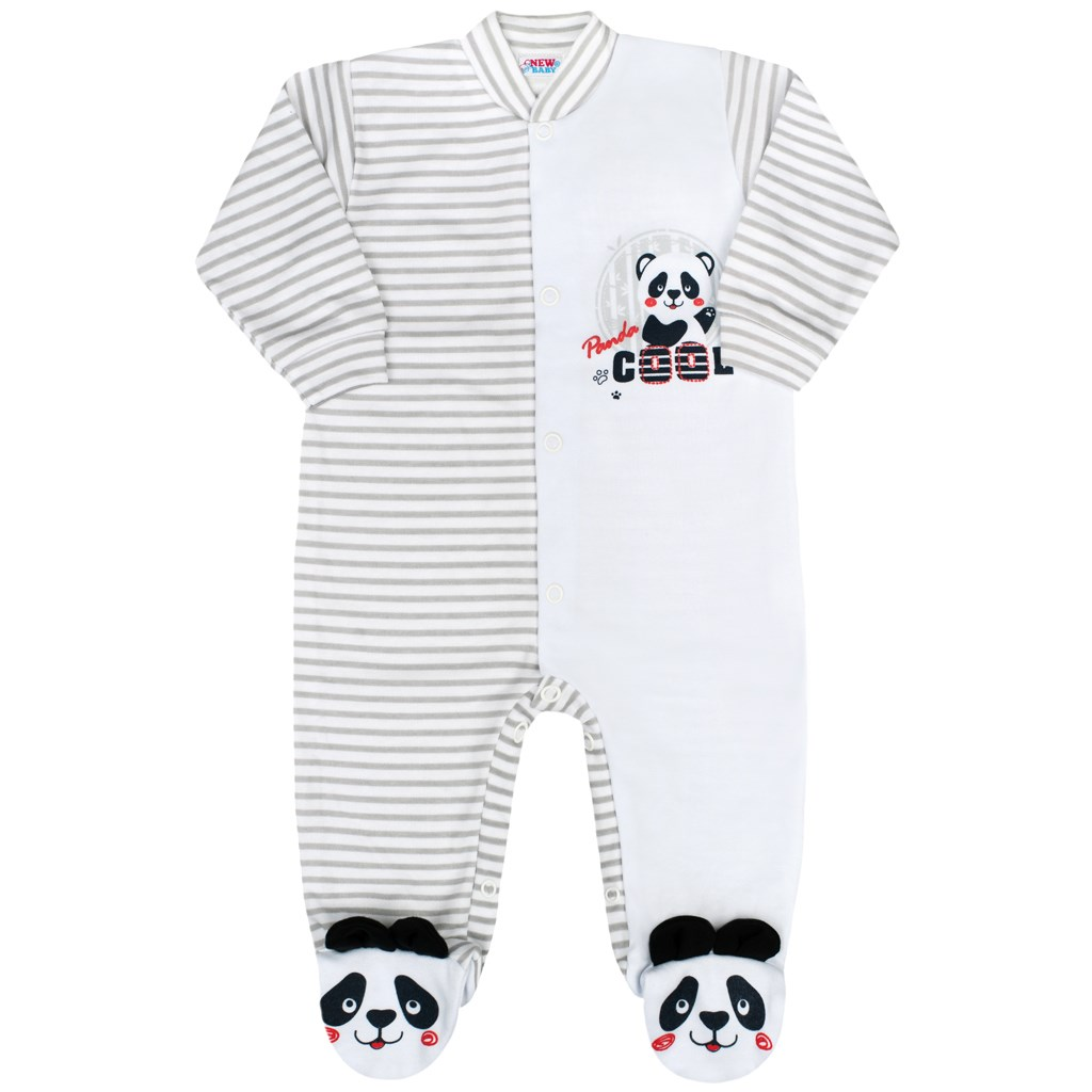 Kojenecký overal New Baby Panda vel. 56 (0-3m)