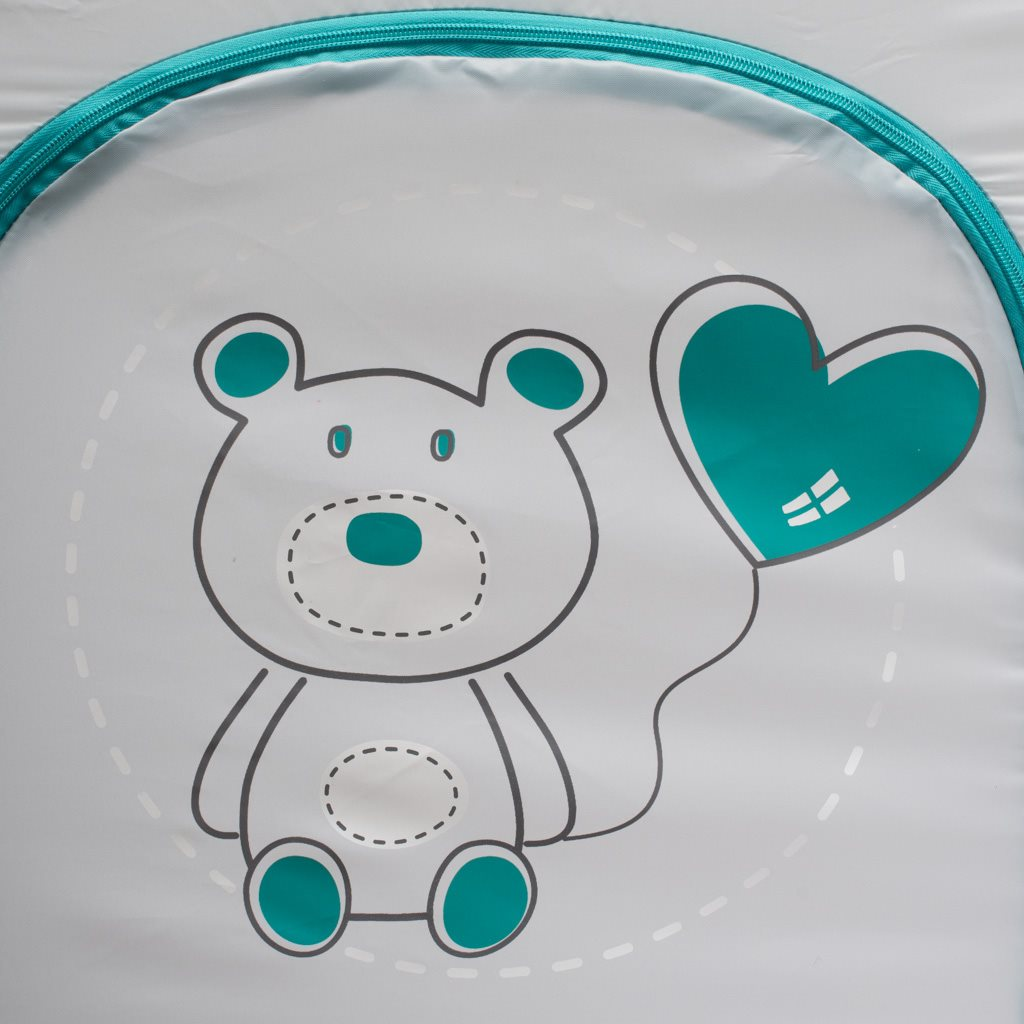 Dětská cestovní postýlka Baby Mix Medvídek šedá