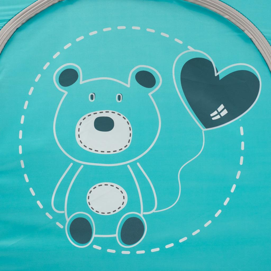 Dětská cestovní postýlka Baby Mix Medvídek modrý