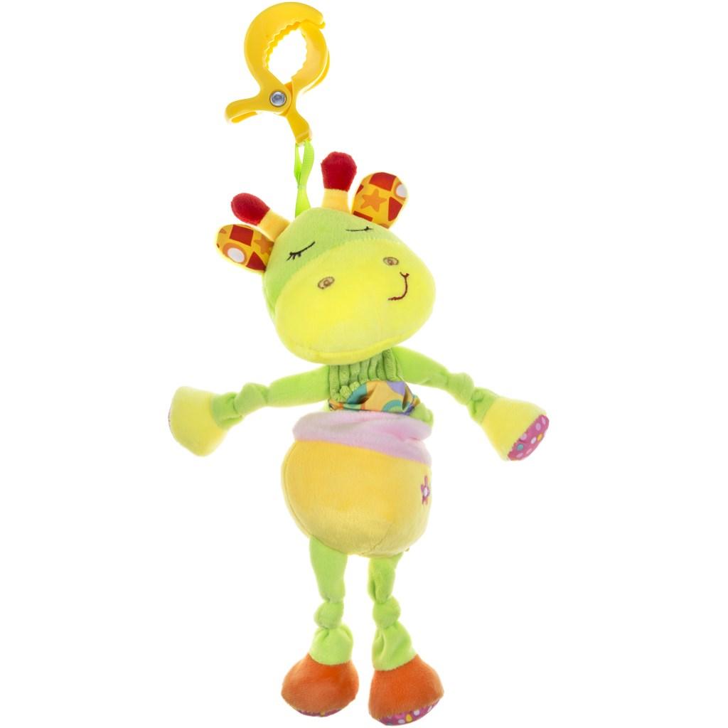 Plyšová hračka s hracím strojkem Akuku žirafka