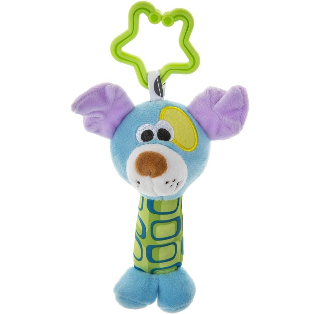 Plyšová hračka s chrastítkem Akuku pejsek