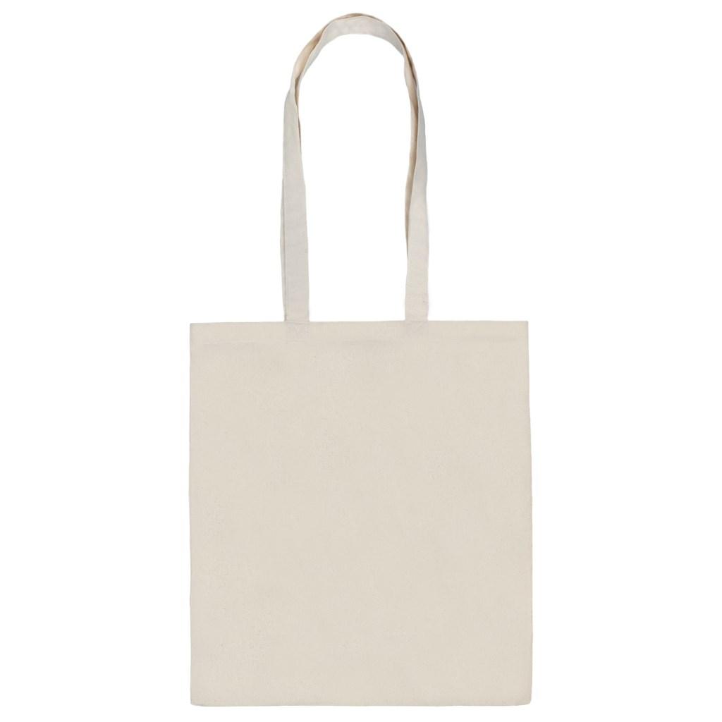 Bavlněná nákupní taška přírodní s potiskem New Baby Táta na nákupu