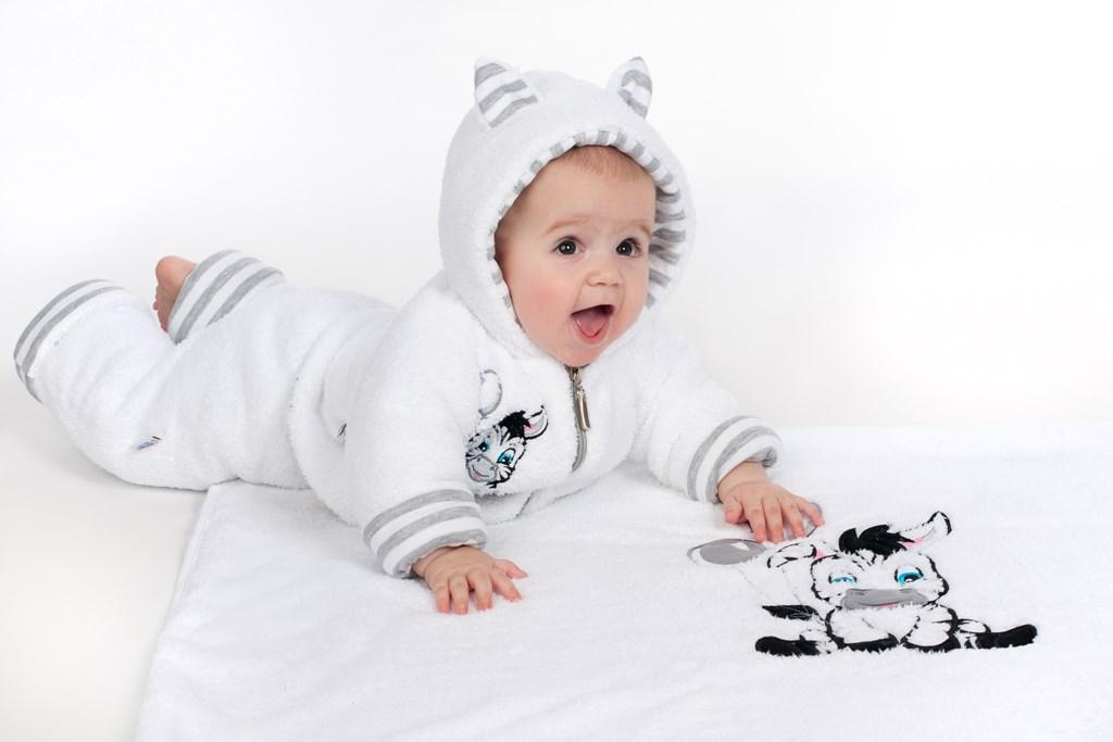 Luxusní dětský zimní kabátek s kapucí New Baby Zebra
