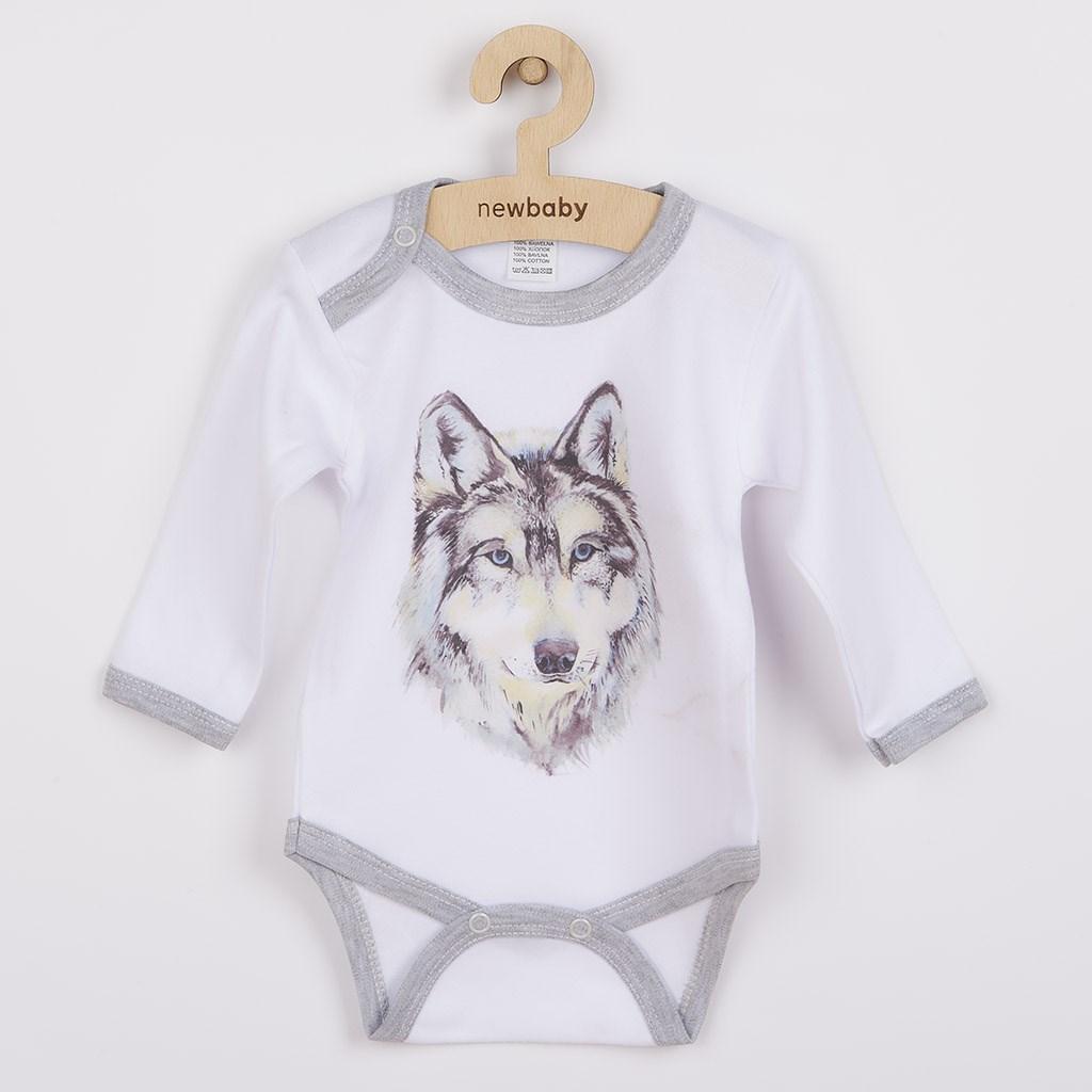Body s potiskem New Baby Wolf, Velikost: 62 (3-6m)