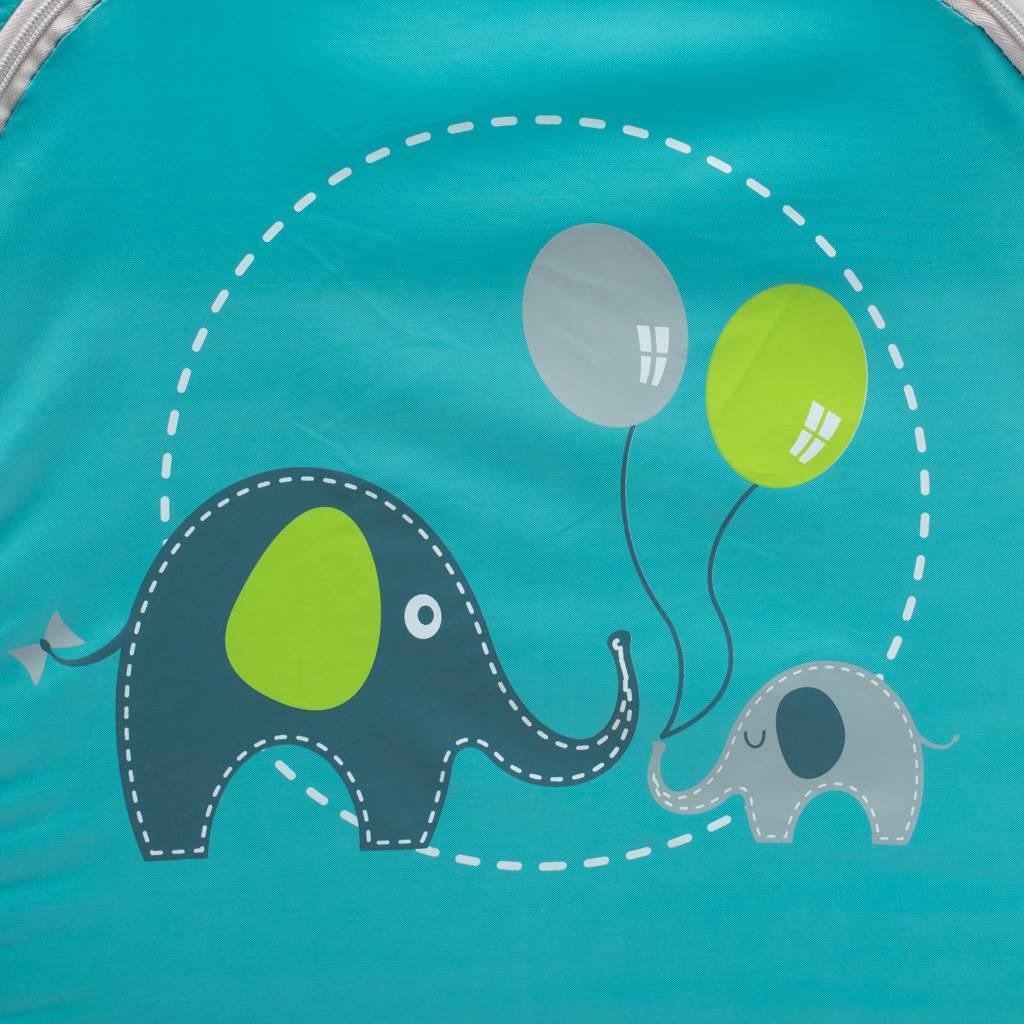 Dětská cestovní postýlka se závěsným lůžkem Baby Mix Sloni modrá