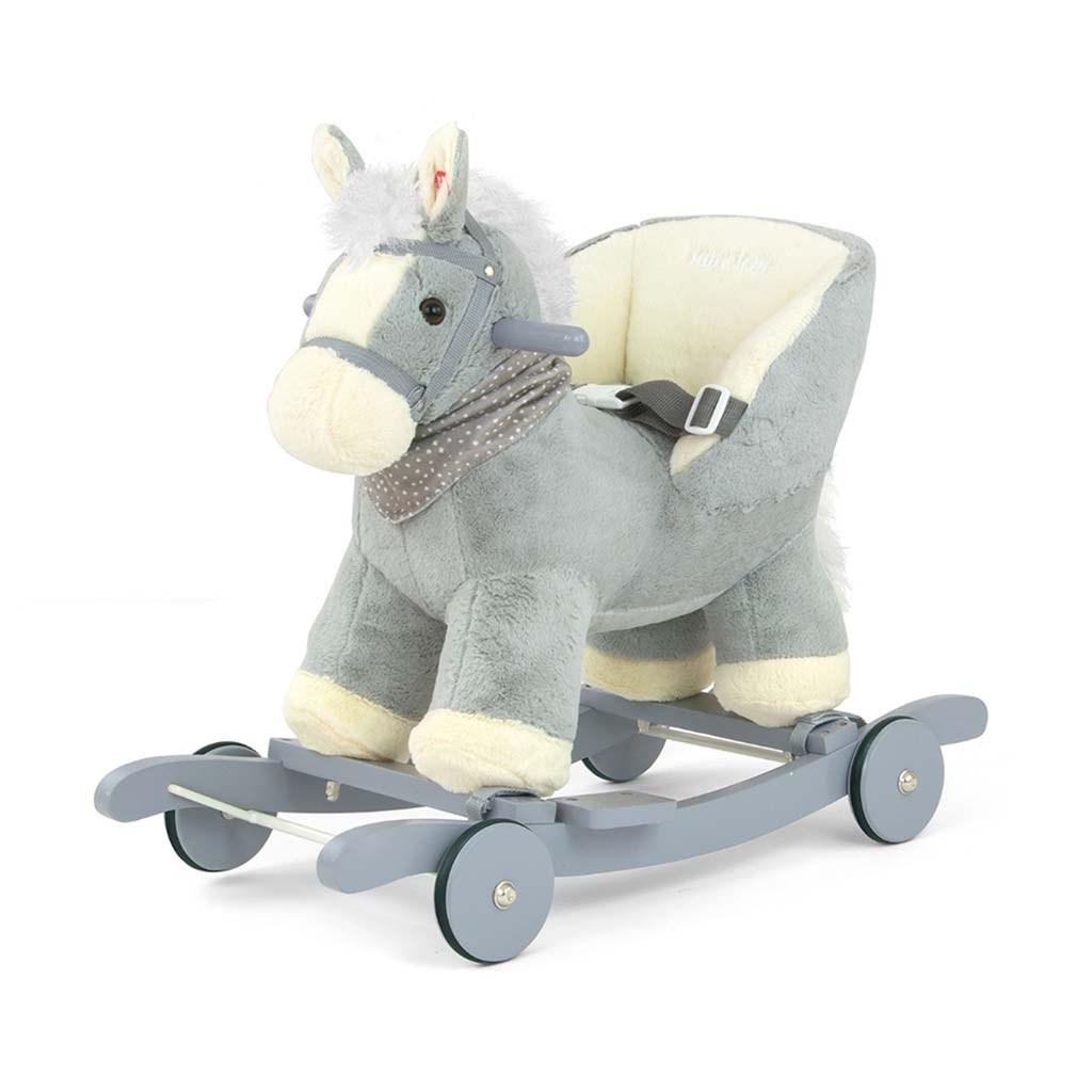 Houpací koník Milly Mally Polly šedý