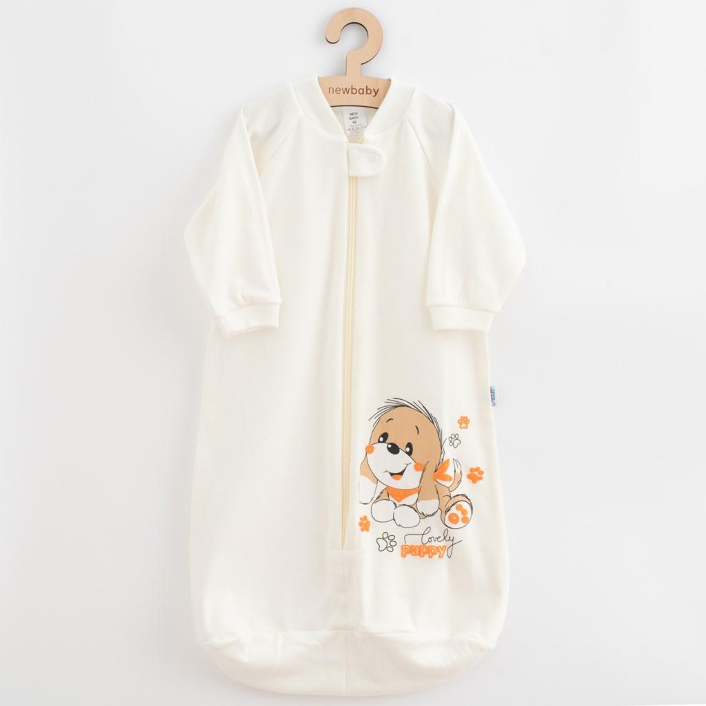 Kojenecký spací pytel New Baby pejsek béžový, Velikost: 62 (3-6m)