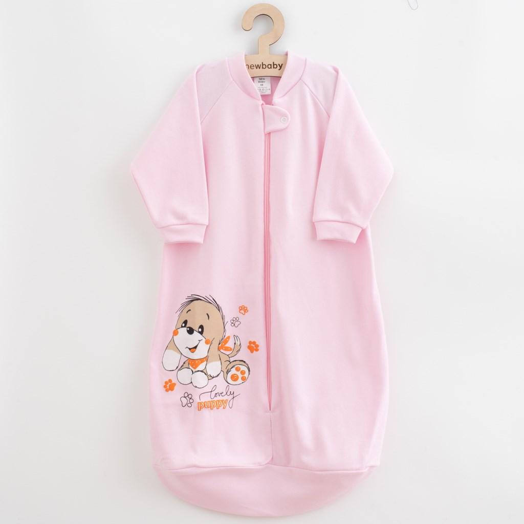 Kojenecký spací pytel New Baby pejsek růžový, Velikost: 62 (3-6m)