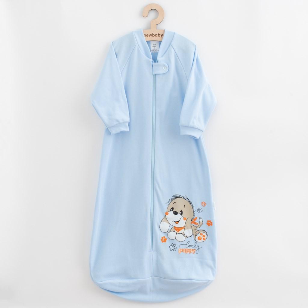Kojenecký spací pytel New Baby pejsek modrý