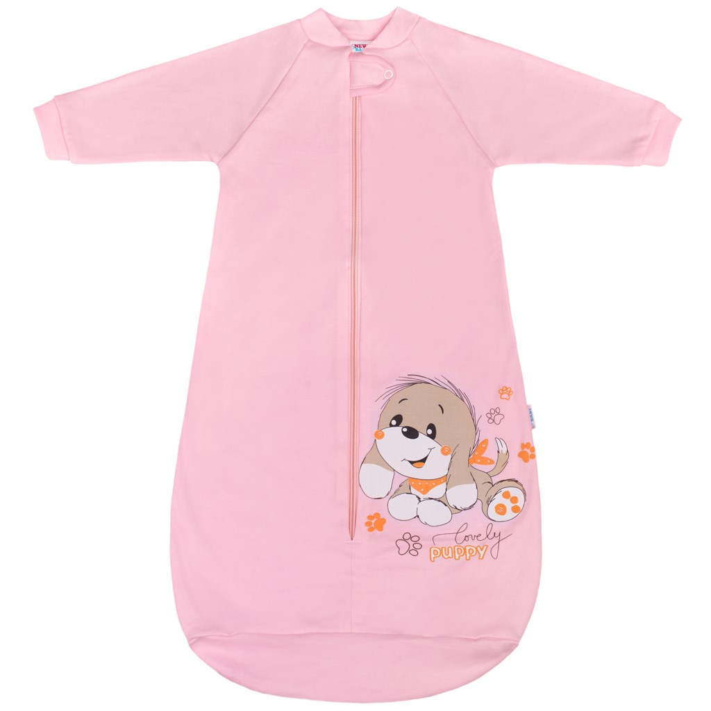 Kojenecký spací pytel New Baby pejsek růžový-86 (12-18m)