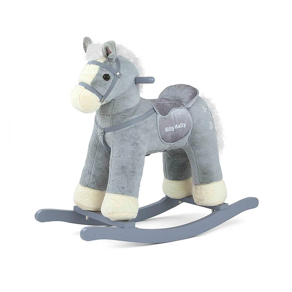 Houpací koník Milly Mally PePe šedý