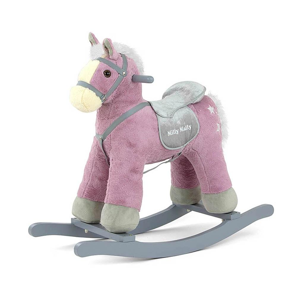 Houpací koník Milly Mally PePe fialový