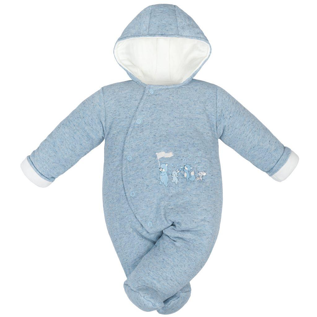 Zimní kojenecká kombinéza Baby Service Animals modrá