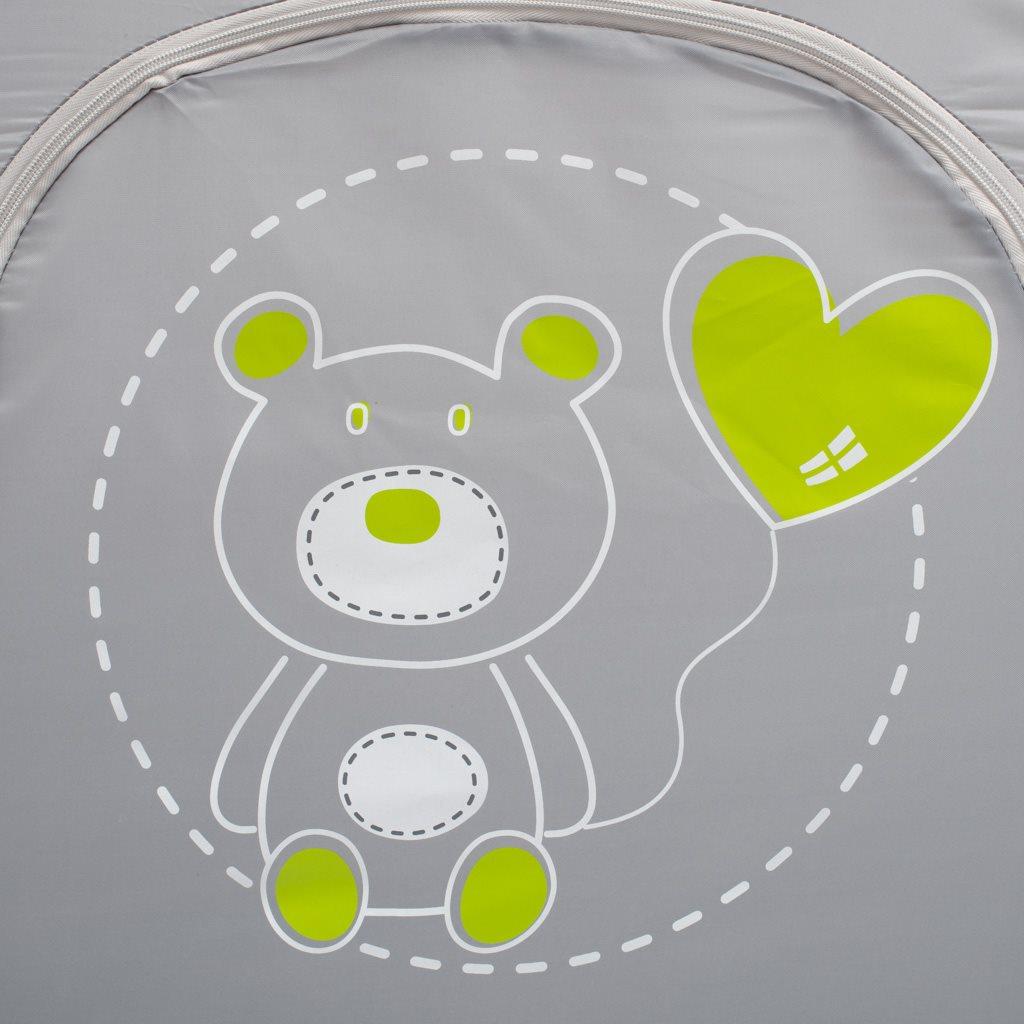 Dětská cestovní postýlka Baby Mix Medvídek tmavě šedá