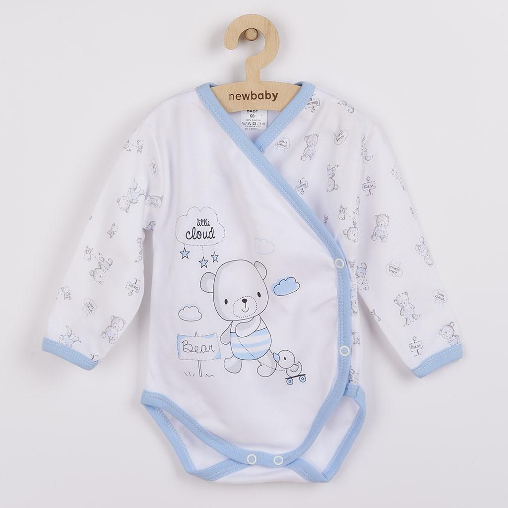 Kojenecké body s bočním zapínáním New Baby Bears modré