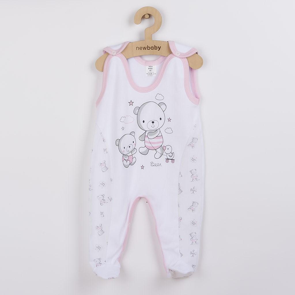 Kojenecké dupačky New Baby Bears růžové vel. 68 (4-6m)