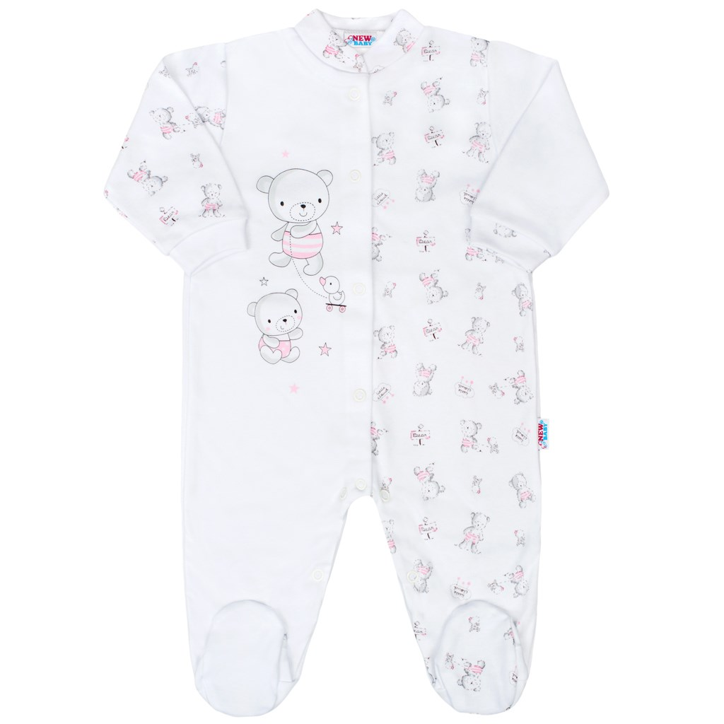 Kojenecký overal New Baby Bears růžový, Velikost: 50