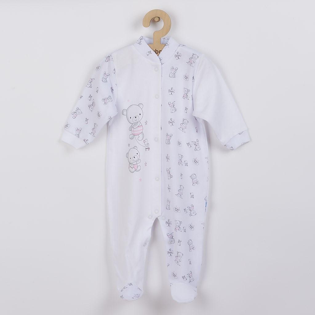 Kojenecký overal New Baby Bears růžový vel. 50